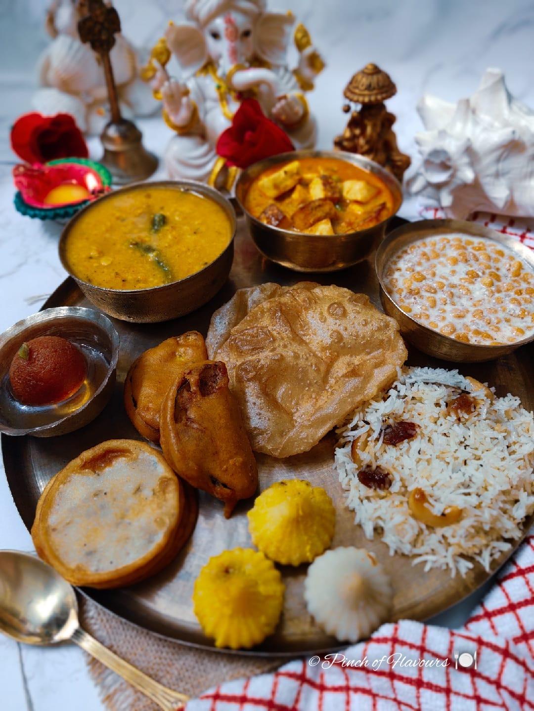 Ganpati Puja Vegetarian Thali