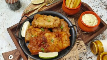 Beer Battered Fish With Tartar Sauce