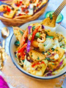 Vegan Thai Tofu Salad With Peanut Dressing