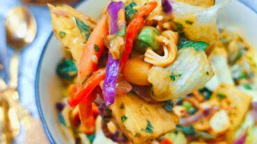 Vegan Thai Salad With Peanut Dressing Recipe