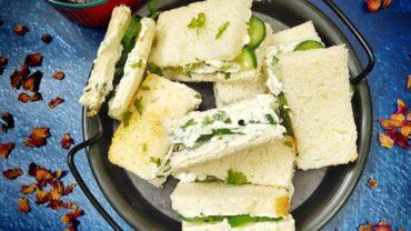 Cream Cheese And Cucumber Sandwich