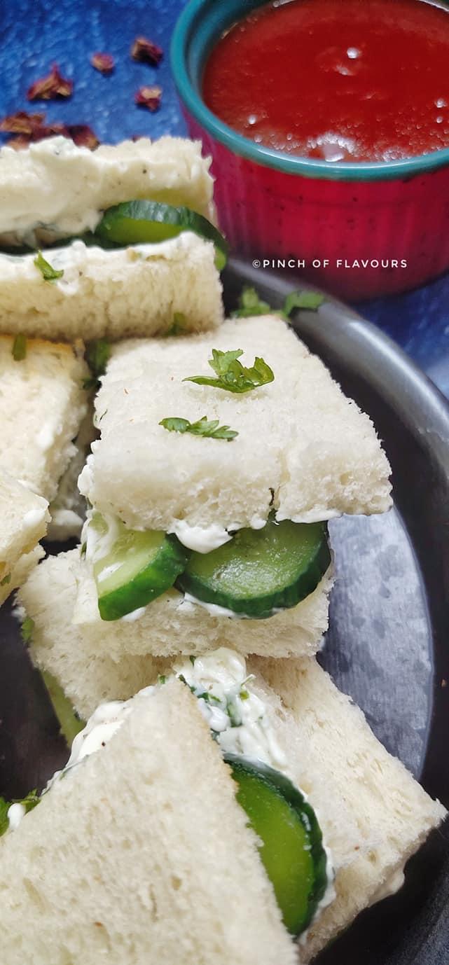 Cream Cheese Cucumber Sandwich