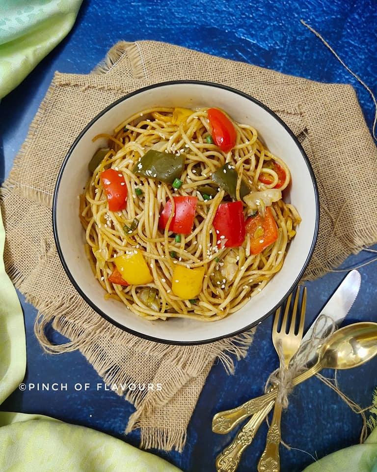 Vegan Chilly Garlic Noodles