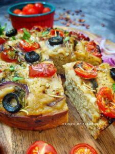 Foccacia Recipe - Tomato & Olive