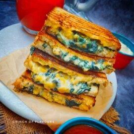 Spinach Corn Sandwich Recipe
