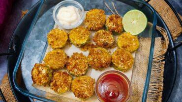 Air Fryer Cucumber Fritters – Air Fried Cucumber Recipe