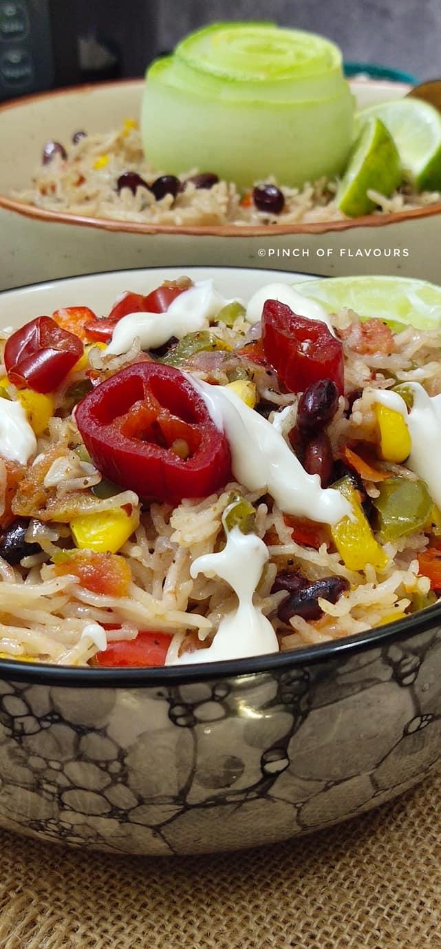 Mexican fiesta rice - Instant Pot Recipe