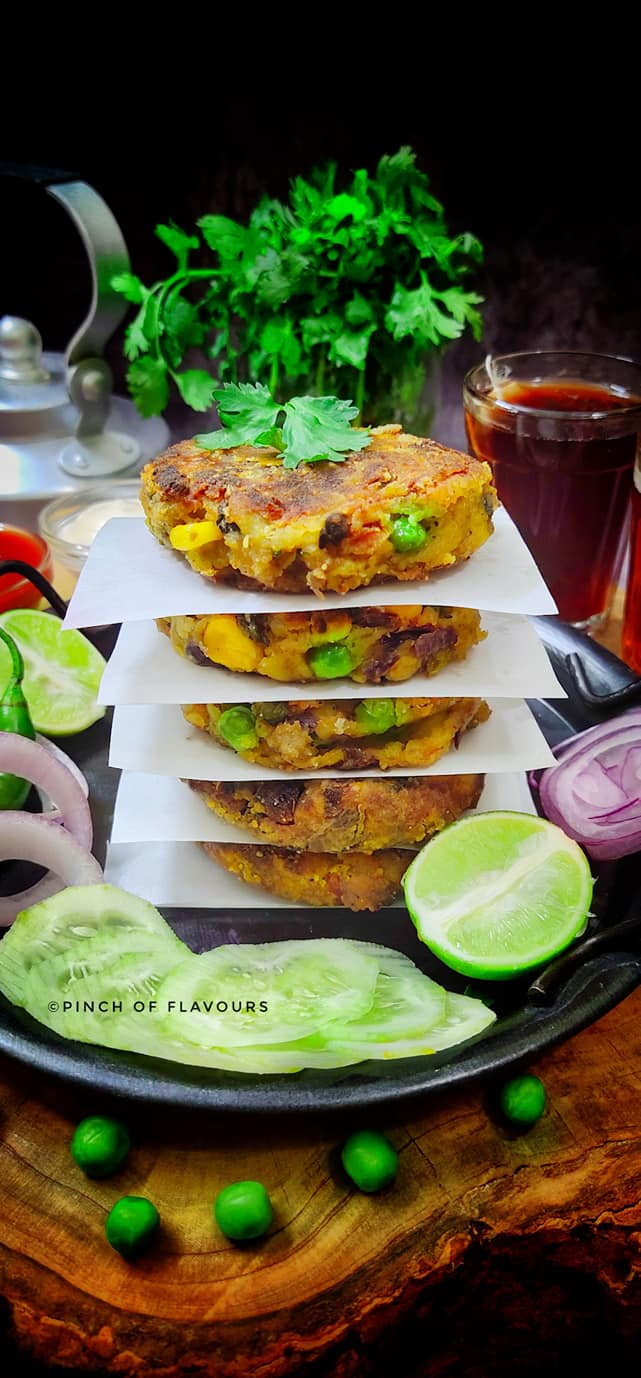 Samosa With Olives And Peas Patties - Air Fried