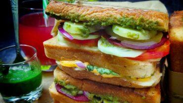 Cream Cheese Bombay Sandwich | Vegan Grilled Sandwich