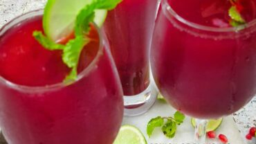 Beetroot Pomegranate Lemonade