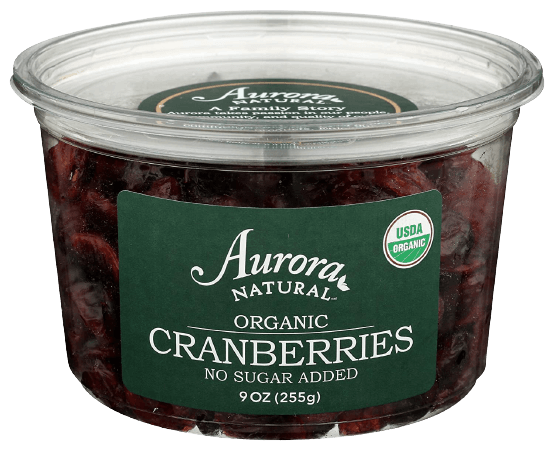 Aurora Products, Cranberries Dried Organic