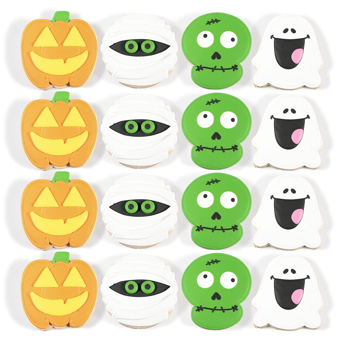 HALLOWEEN Cookies – Hand Decorated Butter Cookies – 1ct, Pack of 16