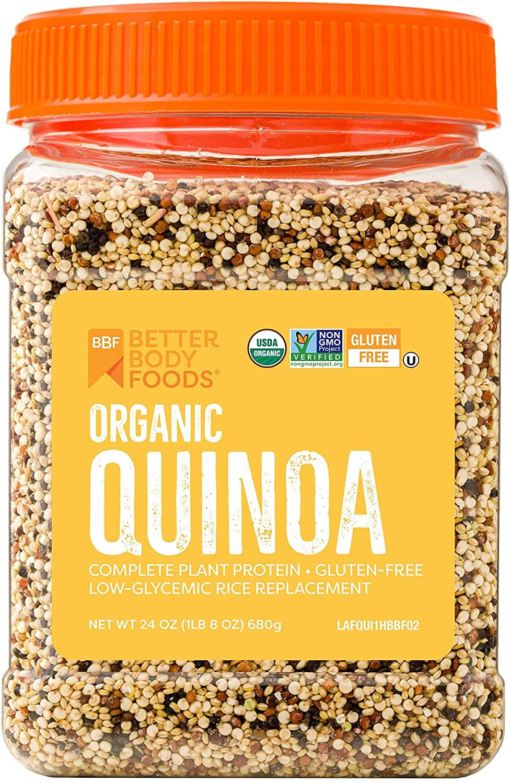 BetterBody Foods Organic Quinoa, Vegan, Complete plant protein,